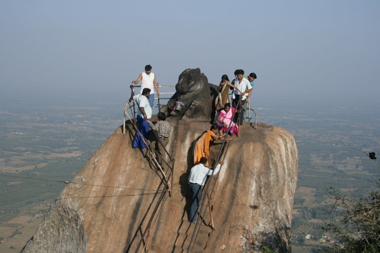 shivaganga nandi at the peak