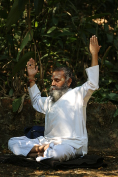 Ramaswamy during meditation
