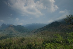 view from grasslands enroute Agastya Mala