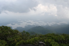 Banasura Sagar reservoir from the top