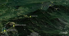 Google Earth imagery of Chembra, Vellarimala and surroundings