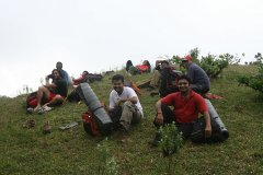 Group at the base of Ettina Bhuja