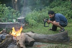 Vaisakh shooting the campfire