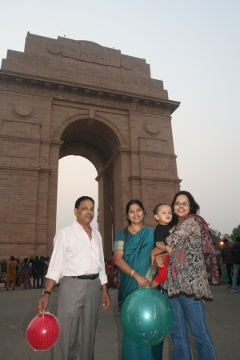 At the India Gate