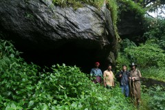 At the cave entrance