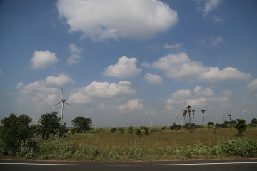 Windmills near Palladam