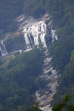 View of Thoovanam waterfalls