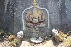 Ganesha carving on the rock