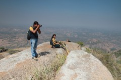 Sudeepto, Priyanka on top of the Ganesha hill