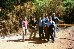 Gang at the start of the trek