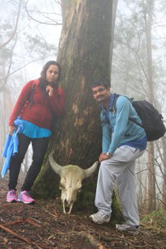 Me, Preethu with a Bison skull