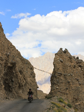 Road near Khardung