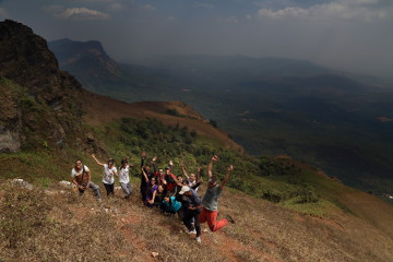 Gang posing at Mullayanagiri foothills