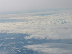 Clouds from the flight