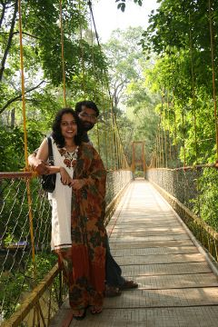 Hanging bridge @ Nisargadhama