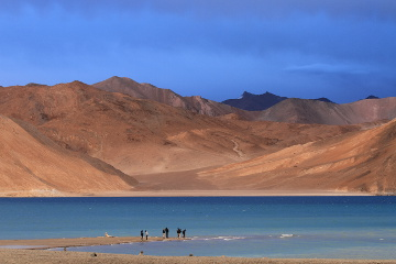 evening at Pangong