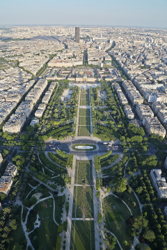 Champs de Mars from Eiffel Tower, Paris
