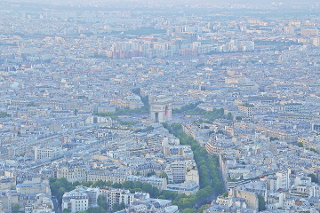 Champs Elysees from Eiffel Tower, Paris