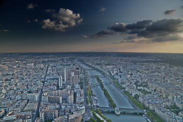 Paris city from Eiffel Tower