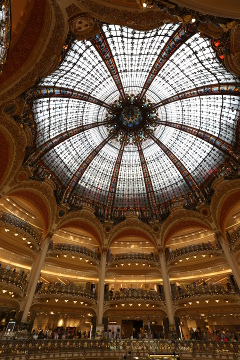 The dome inside Galeries Lafayette, Paris