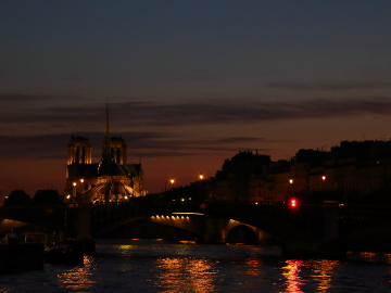 Notre Dame during river Seine cruise, Paris