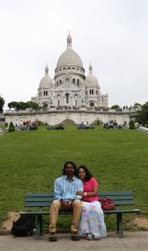 Preethu and Sandeep @ Sacre Coeur, Montmartre, Paris