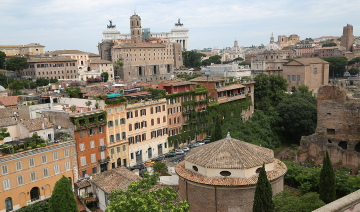 view from Capitoline hill, Rome