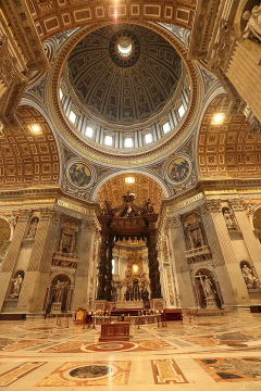 Inside St Peters Basilica, Vatican
