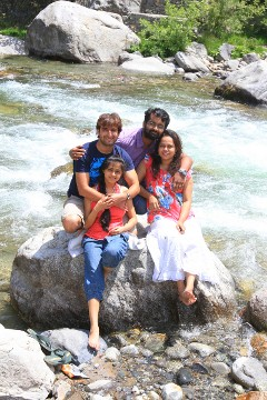 Amit, Priya, Preetha and Sandeep at Manali