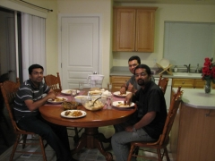 With Arun and Ashish @ Ragesh's house