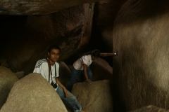 Amal and Shilpa inside the Siddarabetta cave