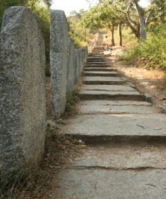 Steps to the top of Siddarabetta