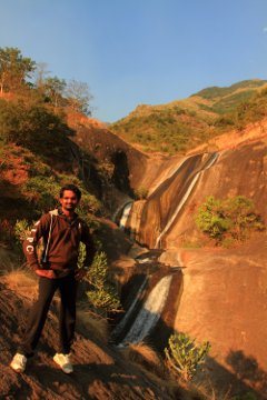 Sandeep, near the Sambalar water falls