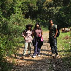 Priyanka, Gladys and Jinu on Escape Road