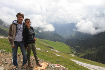 Priya and Amit at Rohtang La