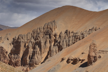 Sand and Rock formations near Sumkhel Lungpa