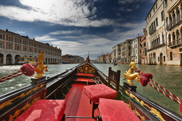 At Grand Canal, Venice in a Gondoala